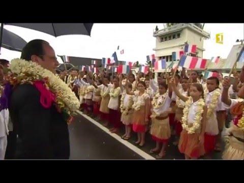 Arrivée du Président François Hollande à Wallis 2016