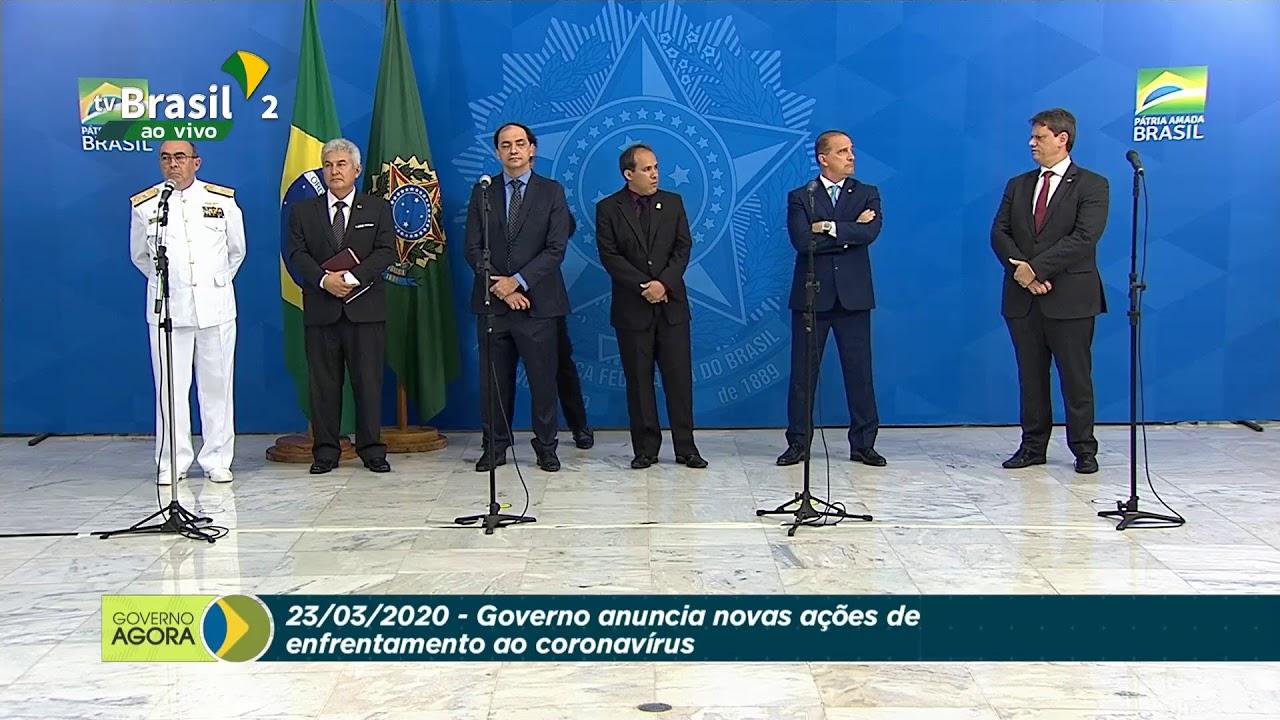 Coletiva de Imprensa com o presidente Jair Bolsonaro e o ministro Luiz Henrique Mandetta