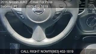 2016 Nissan JUKE 5DR WGN CVT S FWD for sale in Sebring, FL 3