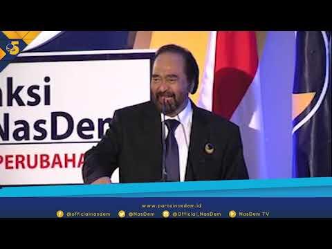 Pidato Surya Paloh di Peringatan HUT ke 4 Fraksi Partai NasDem