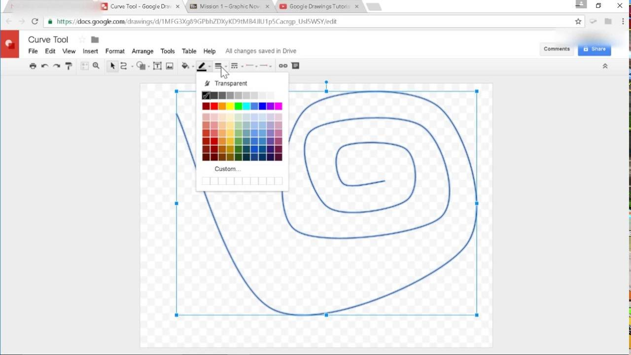 Using The Curve Tool