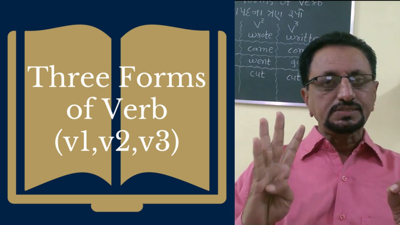 on v1 v2 v3 verb forms examples