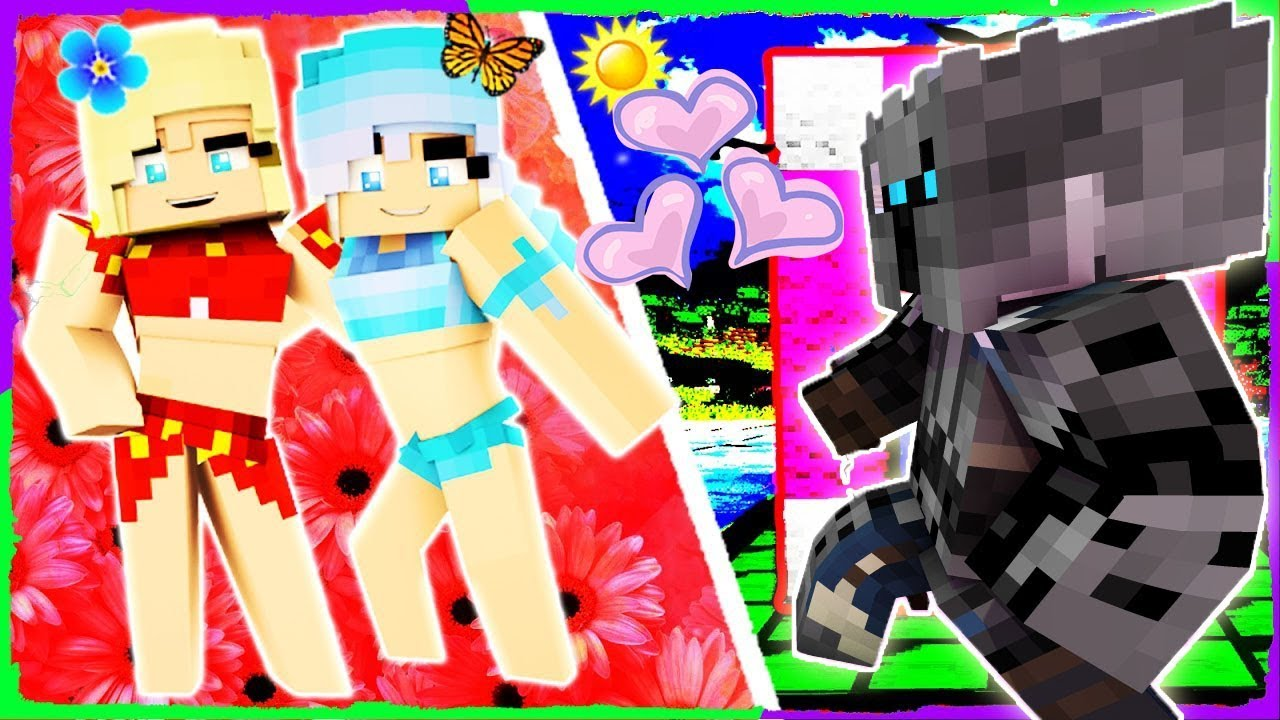PopularMMOs Pat and Jen Minecraft: LAND OF LOVE CLOUDS! - VALENTINES DAY - Custom Map