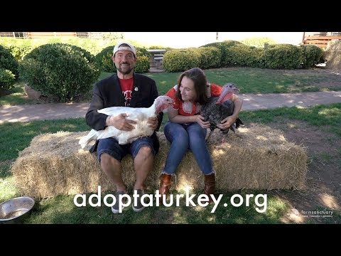Harley Quinn and Kevin Smith Talk Turkey for Farm Sanctuary