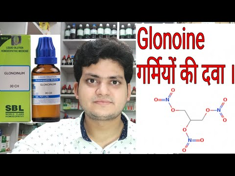 Summer medicine ! Homeopathic medicine Glonoine ? Sign and symptoms !