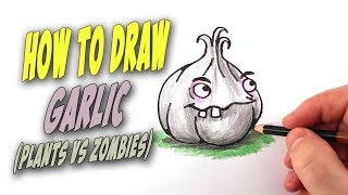 How To Draw Garlic from Plants vs. Zombies – Mr. Cute Cartoon Drawing Club