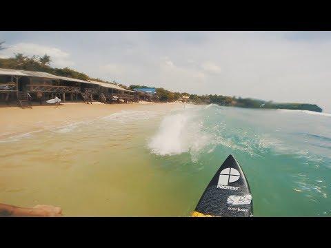 7. BALI SHOREBREAK SURF!!