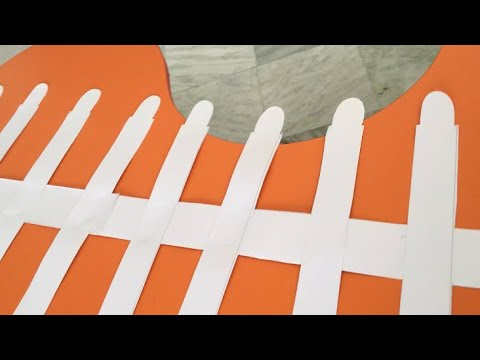 How to make paper fence / paper craft