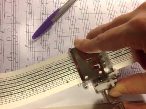 Caja de Música con partituras para componer