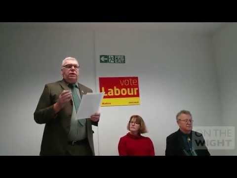 Stewart Blackmore Labour Party 2015 General Election launch 28 Jan 2015 #GE2015