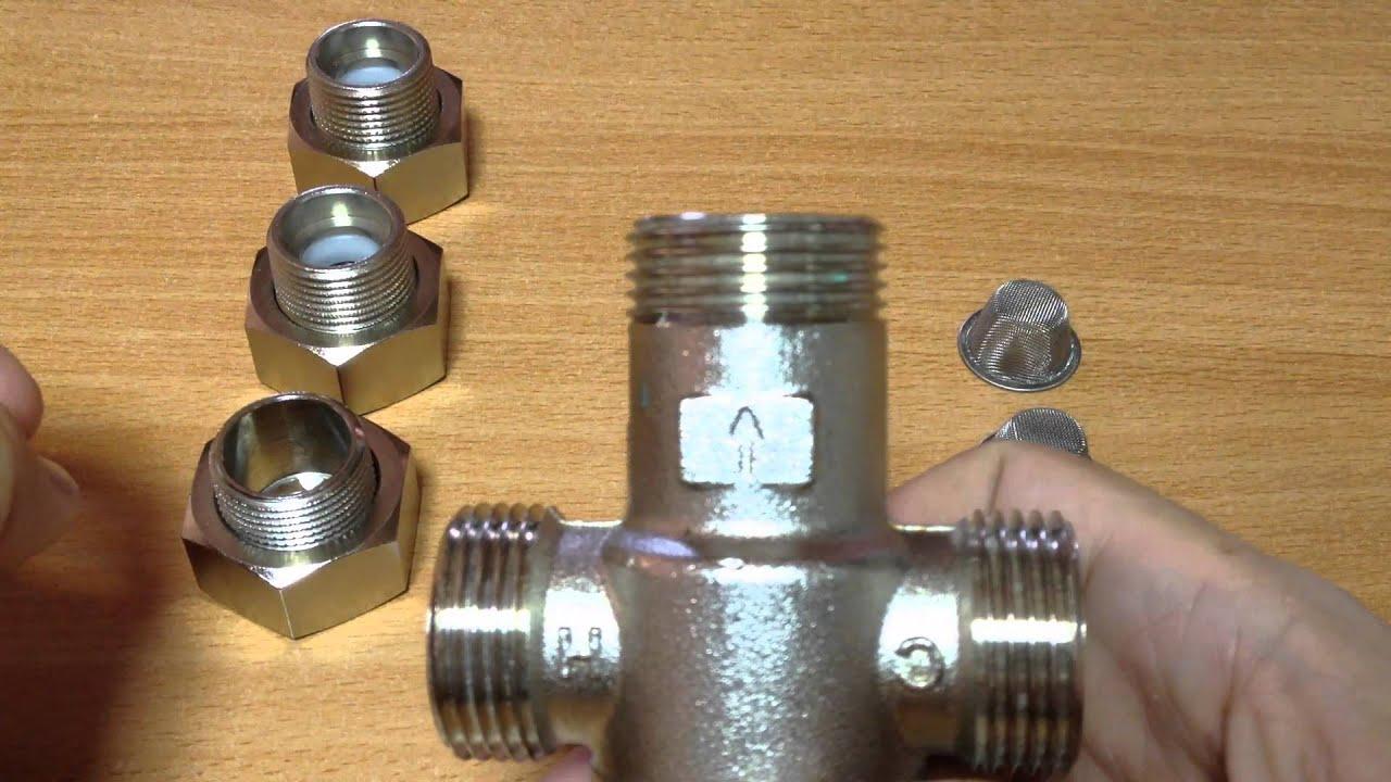 Valvula mezcladora de agua caliente fria youtube for Mezcladora de ducha
