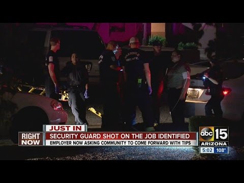 Valley security guard shot on the job has been identified