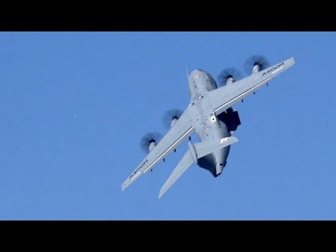 Airbus's A400M Atlas Performs Validation Flying Display at Paris Air Show 2017 - AINtv Express