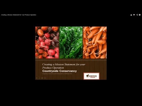 Creating a Mission Statement for Your Produce Operation