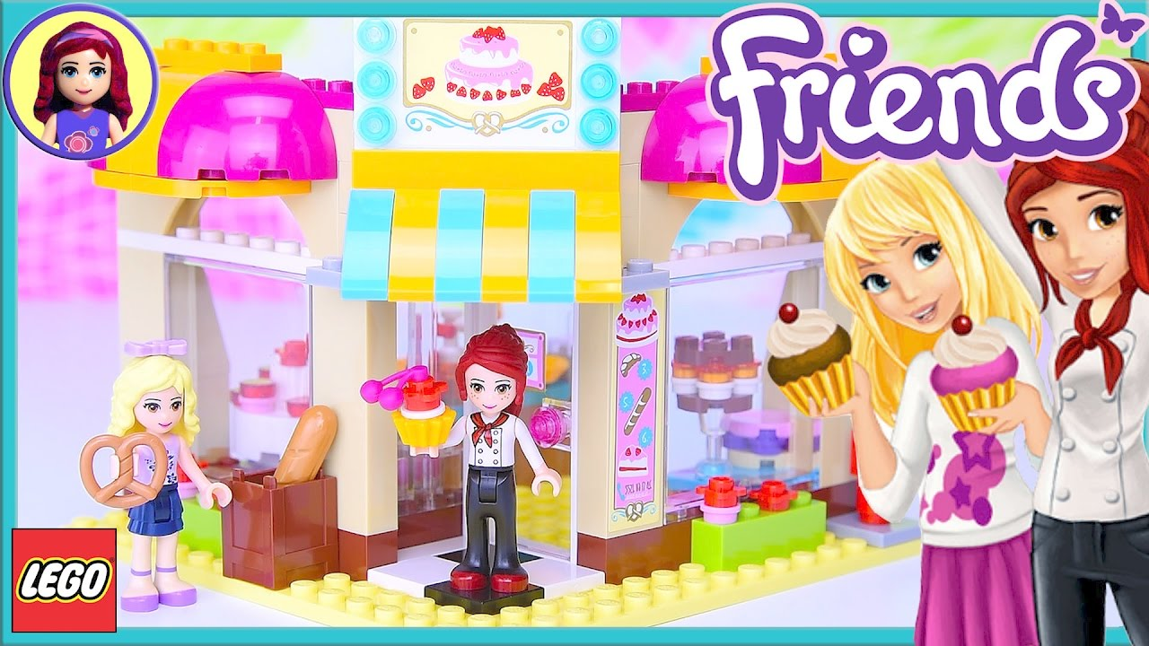 Lego Friends Downtown Bakery Review Build Silly Play