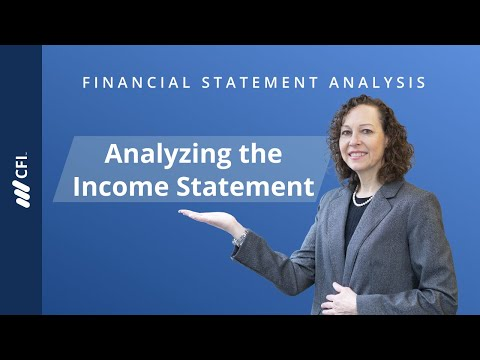 Financial Statement Analysis   Analyzing the Income Statement