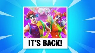 The CLOWN SKINS are BACK in Fortnite..
