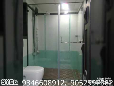 FAMOUS BATHROOM SHOWER GLASS PARTITION YouTube - Bathroom glass partition designs