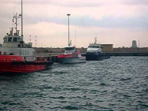 Asalouyeh Port Iran during Docking Crew Boats & Tug Boats