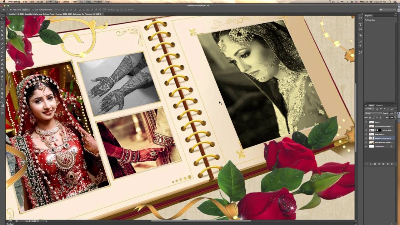 wedding album karizma album transform use in adobe photoshop youtube. Black Bedroom Furniture Sets. Home Design Ideas
