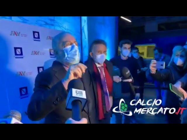 Napoli, De Laurentiis all'inaugurazione della stazione 'Mostra-Maradona'