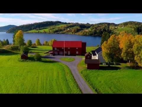 Drone video from Norway, Trøndelag, Snåsa