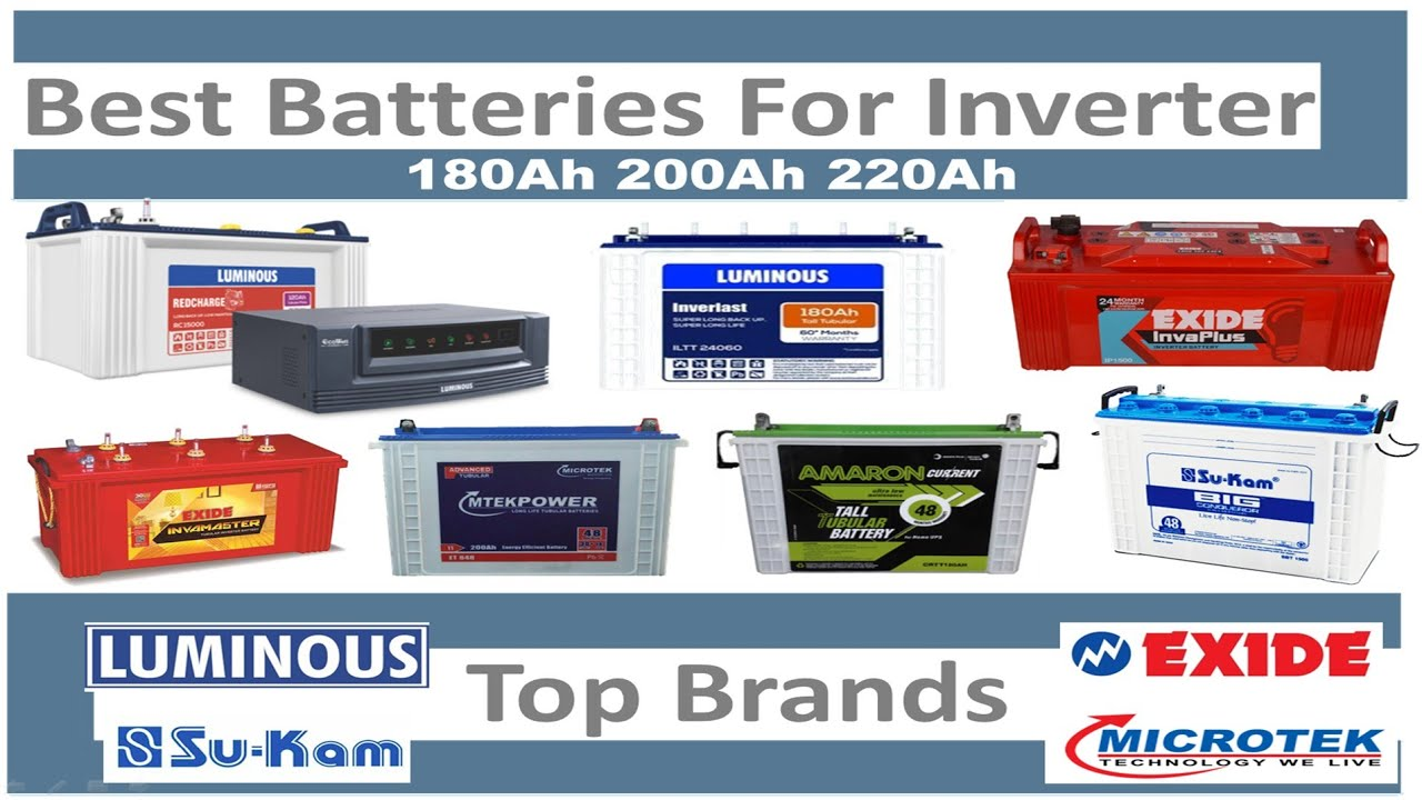 Best 180Ah,200Ah,220Ah Inverter Batteries 2019 | Best Tubular & Flat Plate Battery | Top 5 Brands