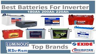 Best 180Ah,200Ah,220Ah Inverter Batteries 2019 | Best Tubular & Flat Plate Battery | Top 5 Brands