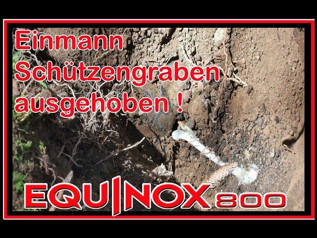 #sondeln -#Schützengraben ausgehoben im #Wald!