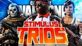 🔴 STIMULUS TRIOS IS CRAZY - WARZONE LIVE - 345+ WINS (4X CHAMPION)
