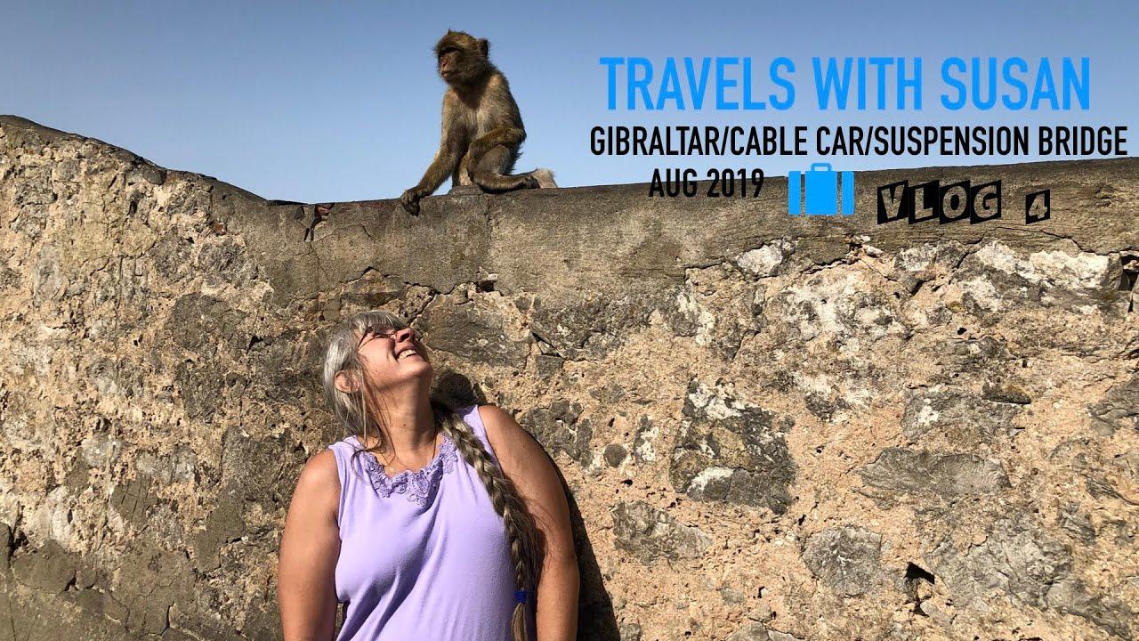 Gibraltar Cable Car-Monkeys-St Michaels Cave-Suspension Bridge 2019