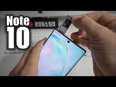 How To Install SD And SIM Card Into Samsung Galaxy Note 10