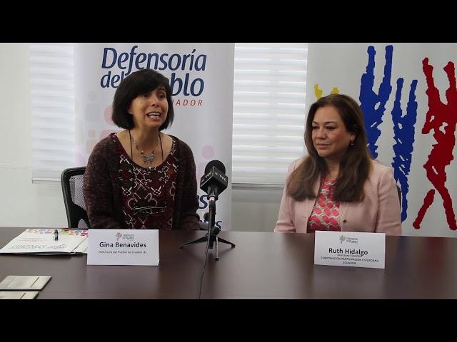Firma de Convenio de Cooperación entre Defensoría del Pueblo y Corporación Participación Ciudadana