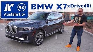 2019 BMW X7 xDrive40i Luxury - Kaufberatung, Test deutsch, Review, Fahrbericht Ausfahrt.tv