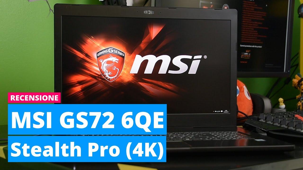 MSI GS72 6QE Stealth Pro 4K Drivers