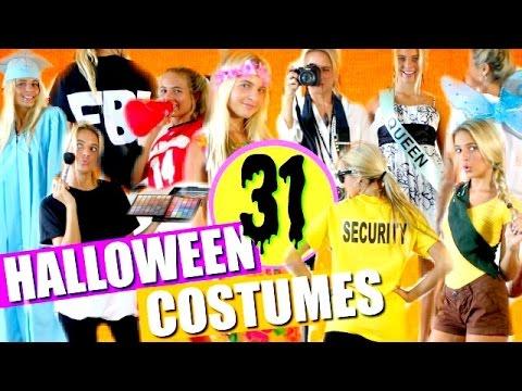 31 Last-Minute DIY HALLOWEEN COSTUMES!!!   DIY Halloween Costumes!