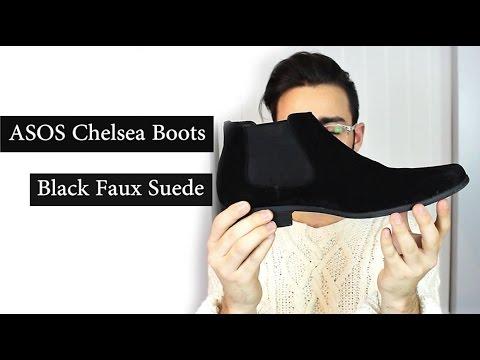 ASOS Chelsea Boots Faux Suede - Black