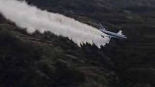 Evergreen International Boeing 747 super tanker firefighting