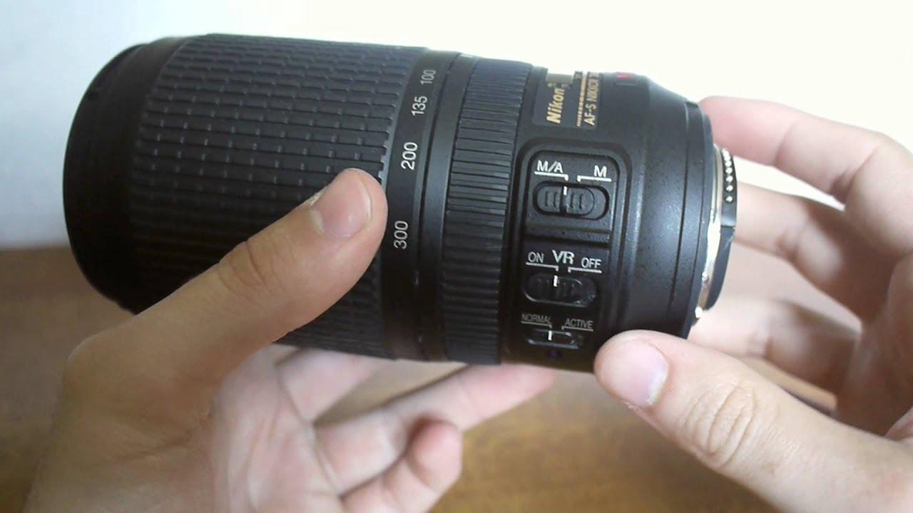 nikon af s nikkor 70 300mm f4 5 5 6g if ed vr lens review youtube rh youtube com nikon 70-300 vr instruction manual nikon 70-300 vr dimensions