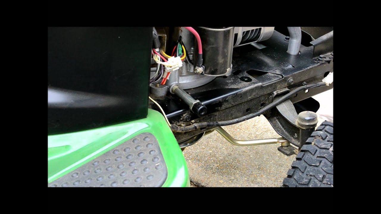John Deere Lawn Tractor Tune Up Step 1 of 5 The Oil Change YouTube