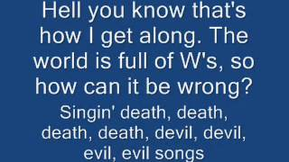 Death, Death devil, devil, devil, devil, evil, evil, evil, evil song   Voltaire with Lyrics