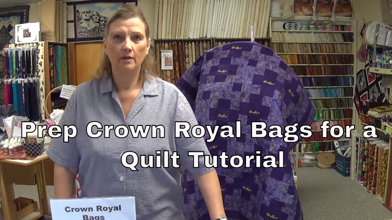 How To Prep Your Crown Royal Bags For A Quilt Youtube