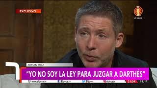 Jorge Cuadrado a solas con Adrián Suar