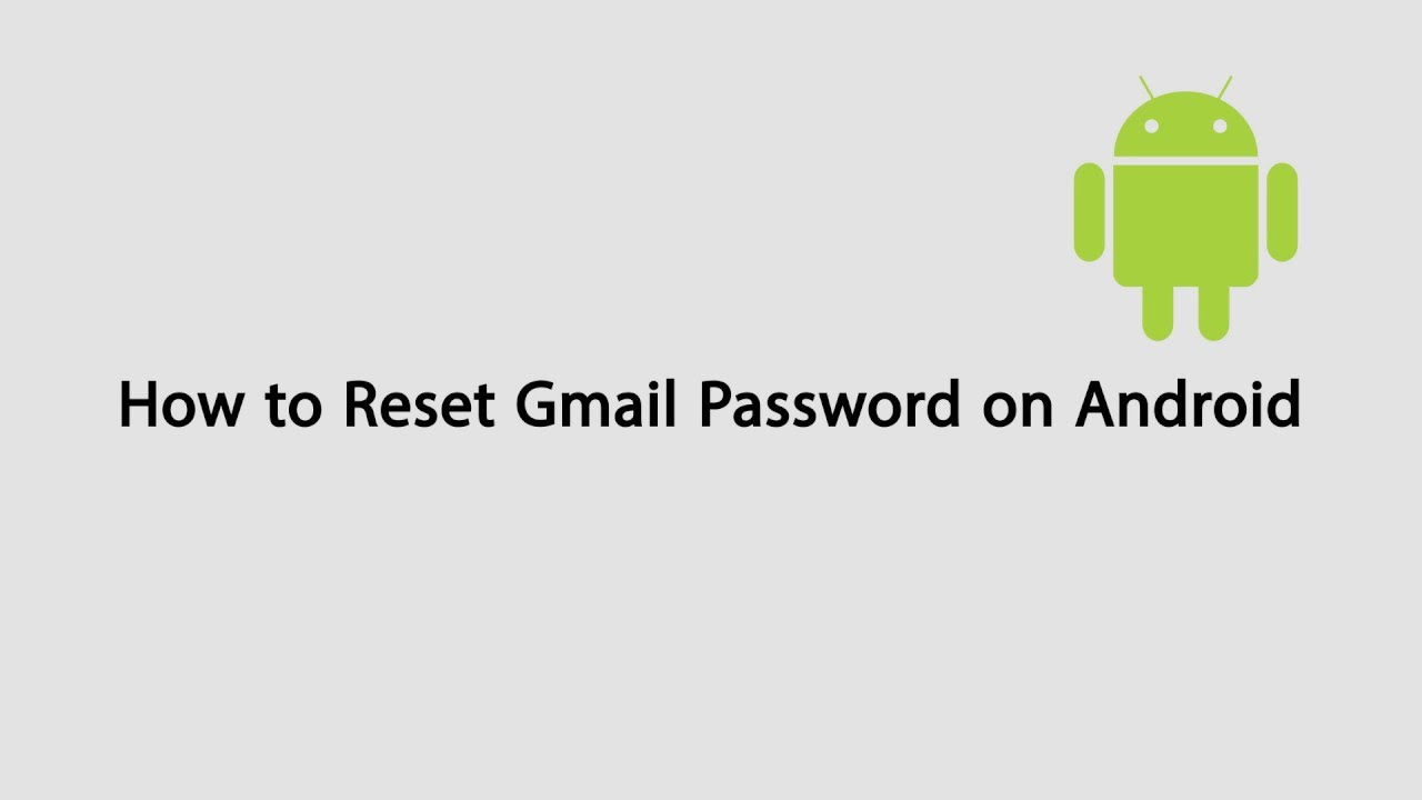 how to reset password gmail android