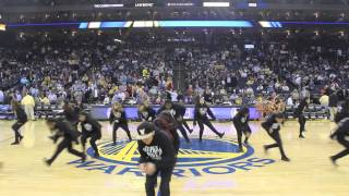 golden state warriors vs new orleans pelicans   chapkis dance family cdf   half time show