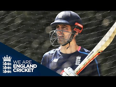 Train Like England: Cook, Malan and Stoneman In The Nets - The Ashes 2017