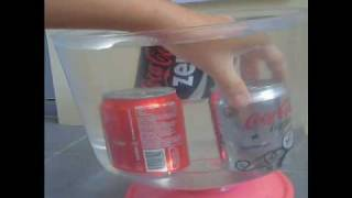 physics - sinking and floating soda cans.wmv