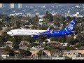 """Alaska Airlines Boeing 737-990(ER)(WL) """"Honoring Those Who Serve"""" at LAX"""