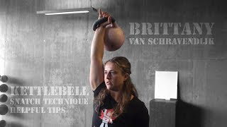 Brittany van Schravendijk | Kettlebell sport snatch technique tips (Vancouver, BC, 2018)