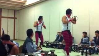 野球部納会で披露した森脇&本間のタンバリン芸人ゴンゾーアレンジ版で...